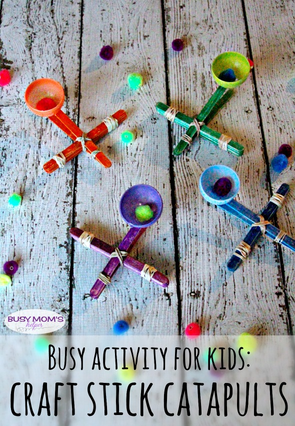 Catapult Craft For Kids: Busy Bag: Paperclip Chains