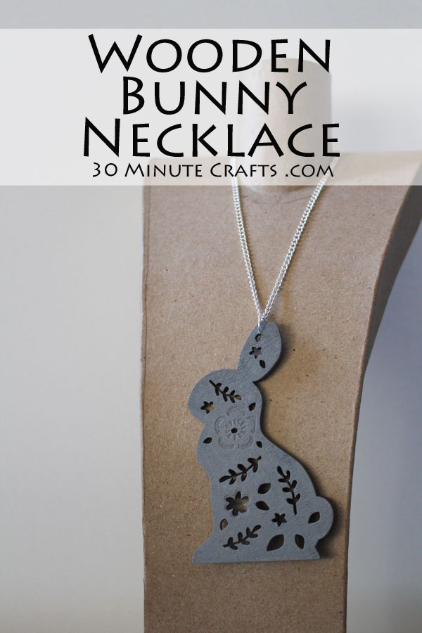 DIY Wooden Bunny Necklace