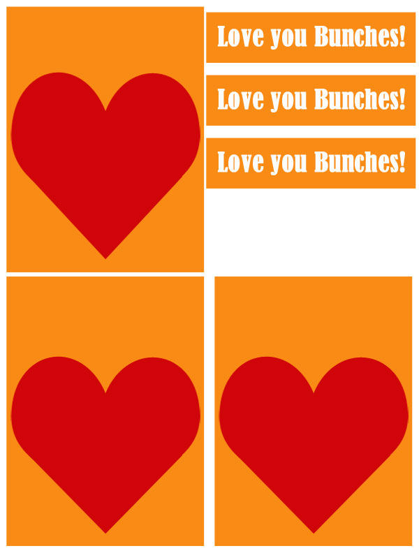Love you Bunches Printable