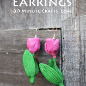 Make these Tulip Earrings using Oven Bake Clay and a Mold