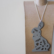 finished bunny necklace