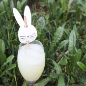 finished bunny straw