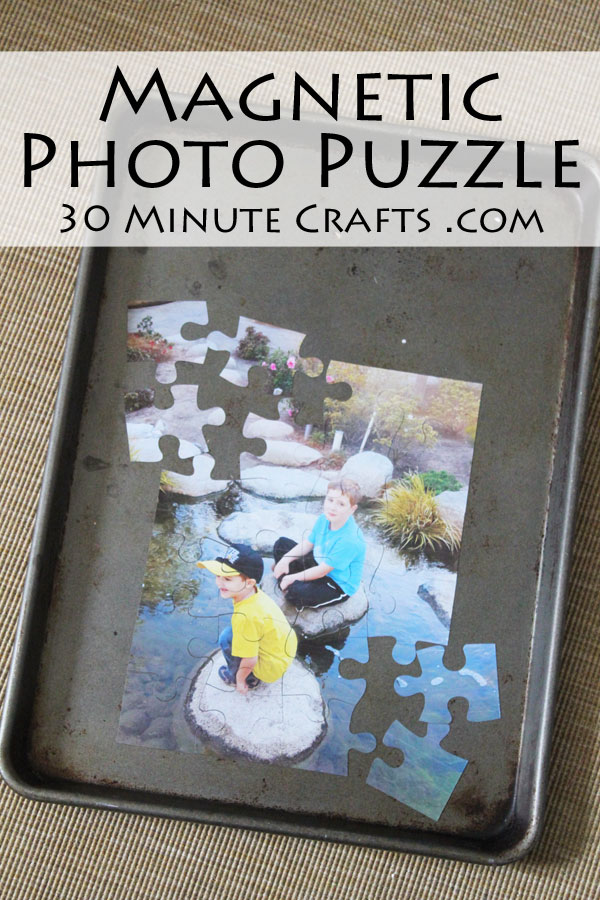 Make a magnetic photo puzzle