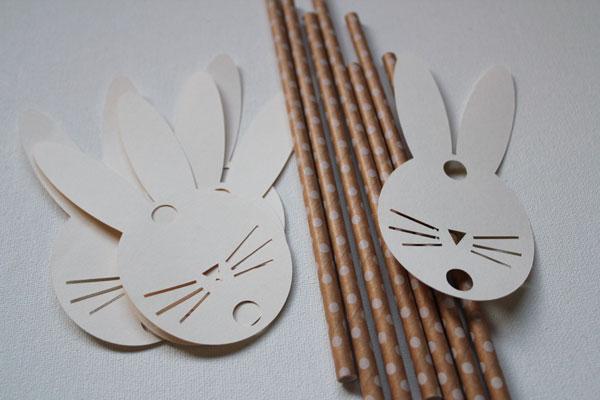 make bunny straws