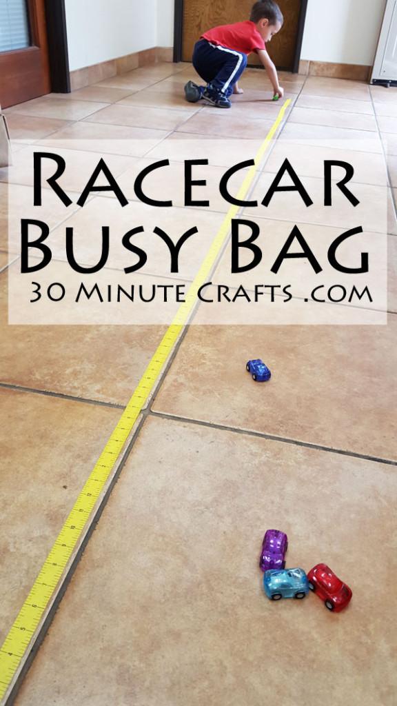 racecar busy bag