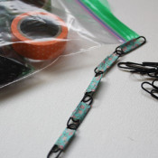 simple to make paperclip necklace busy bag