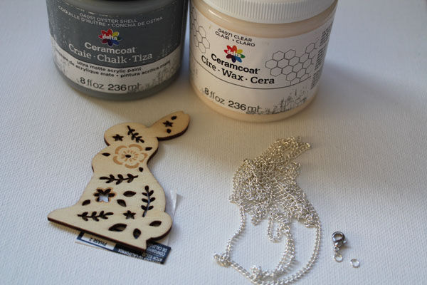 supplies for bunny necklace