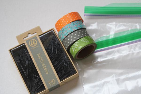 supplies for paper clip busy bag
