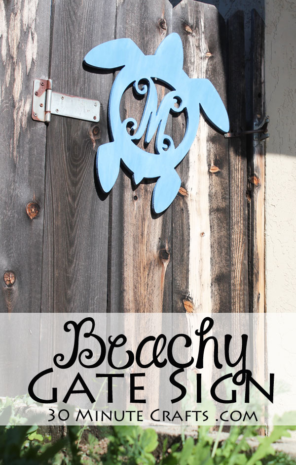 Beachy Gate Sign