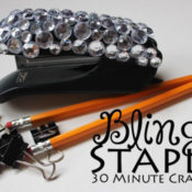 make a blinged stapler with only a few supplies