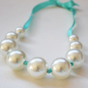 finished faux pearl necklace