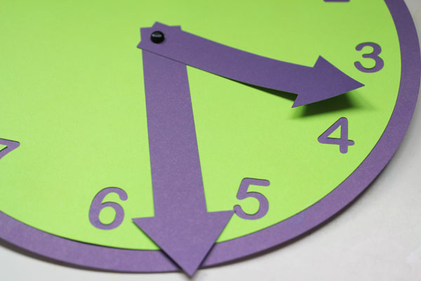 finished paper clock