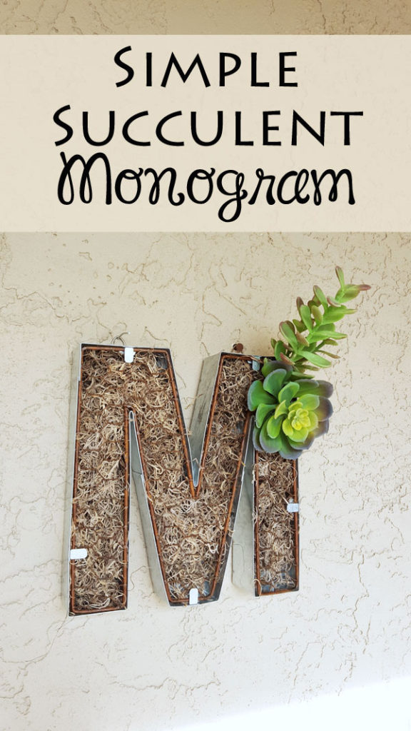 make this simple monogram decor with just a few simple craft supplies