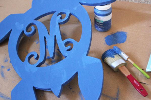 paint turtle blue