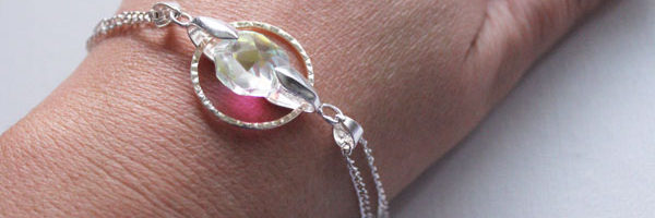 ringed crystal bracelet
