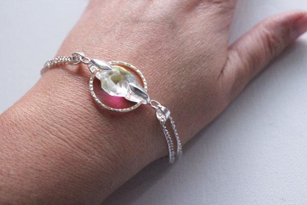 ringed crystal bracelet