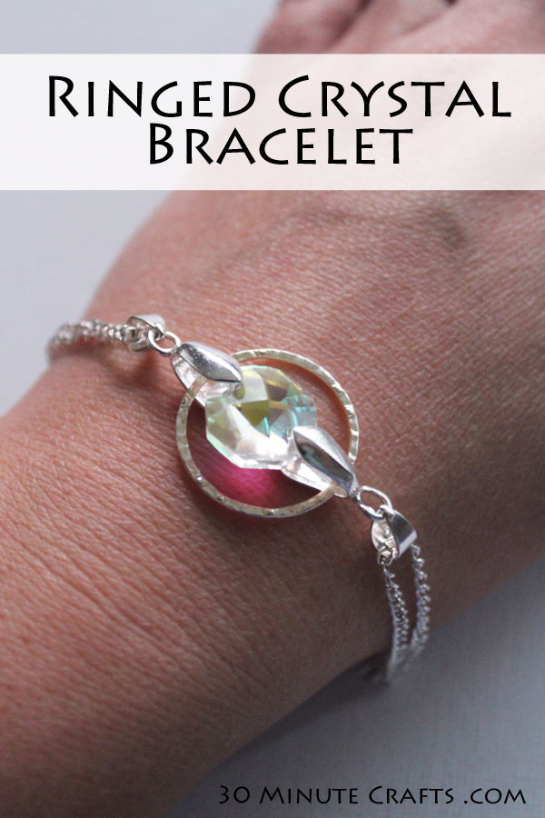 simple to make ringed crystal bracelet