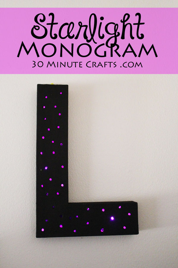 This Starlight Monogram adds soft light to any space