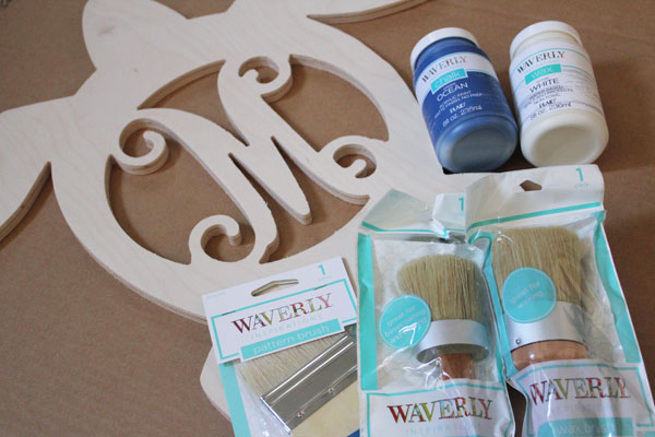 supplies for beachy gate sign