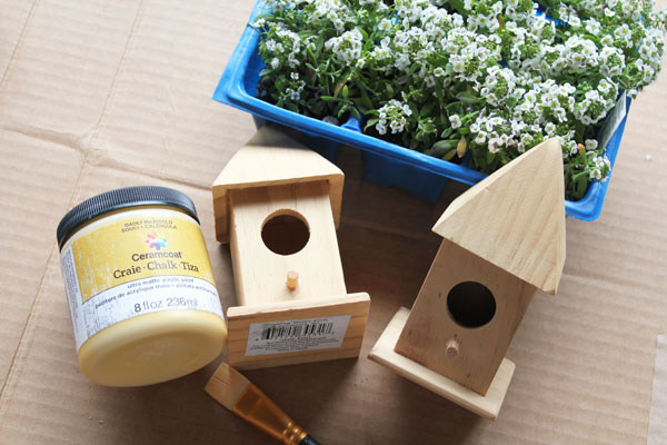 supplies for birdhouse planter
