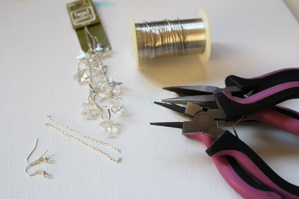 supplies for star earrings
