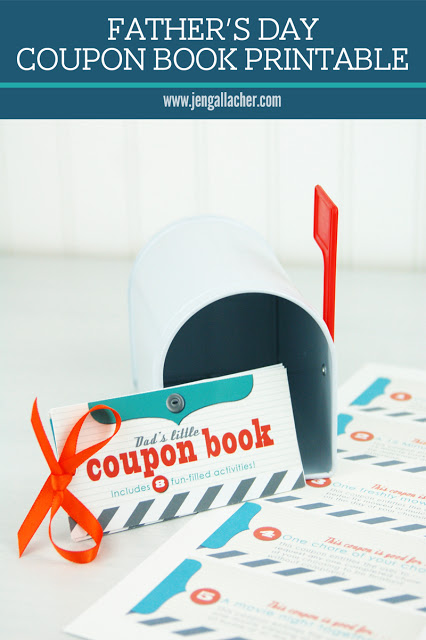 Fathers Day Coupon book Printable by Jen Gallacher