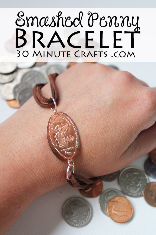 Make a Smashed Penny Bracelet - a great way to enjoy the smashed pennies you get from amusement parks!