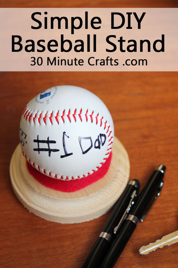 Simple DIY Baseball Stand - make this simple stand to display a special baseball