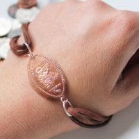 finished smashed penny bracelet