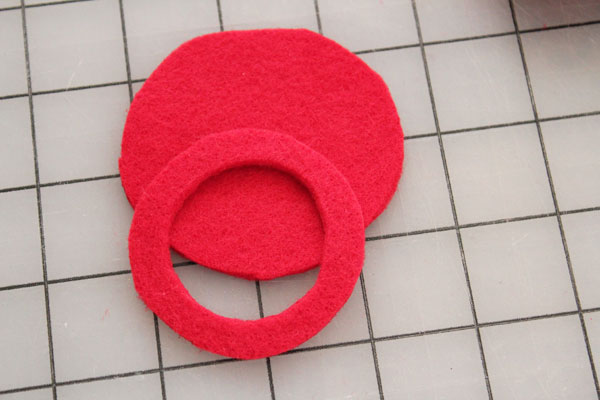 two cut shapes