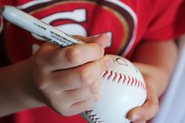 write on ball