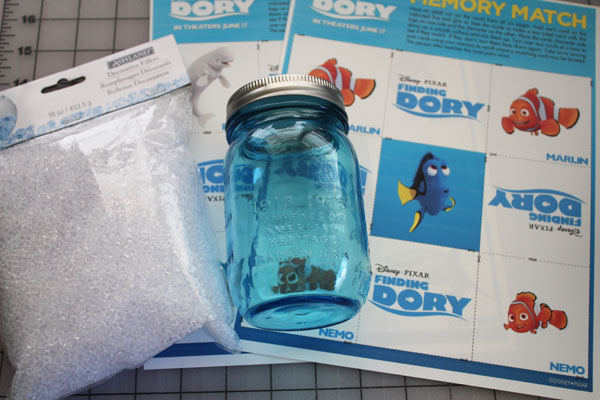 Supplies for finding dory search jar, Finding Dory Craft