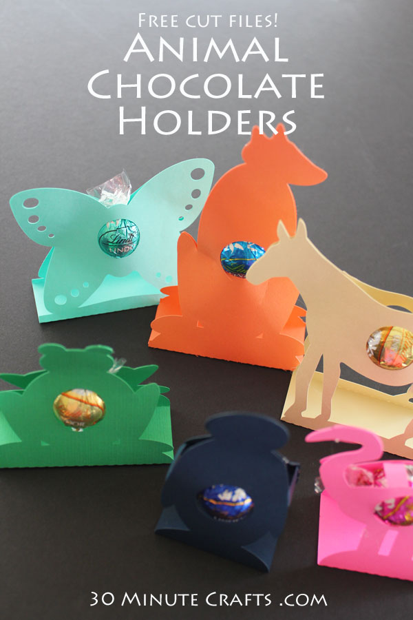 Animal Chocolate Holders - Free Silhouette Cut Files