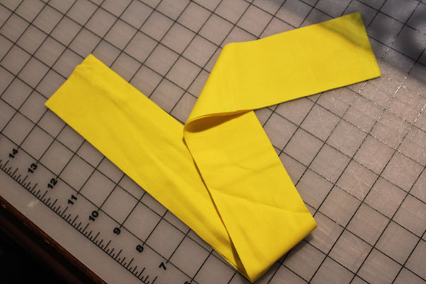 cut strip of fabric