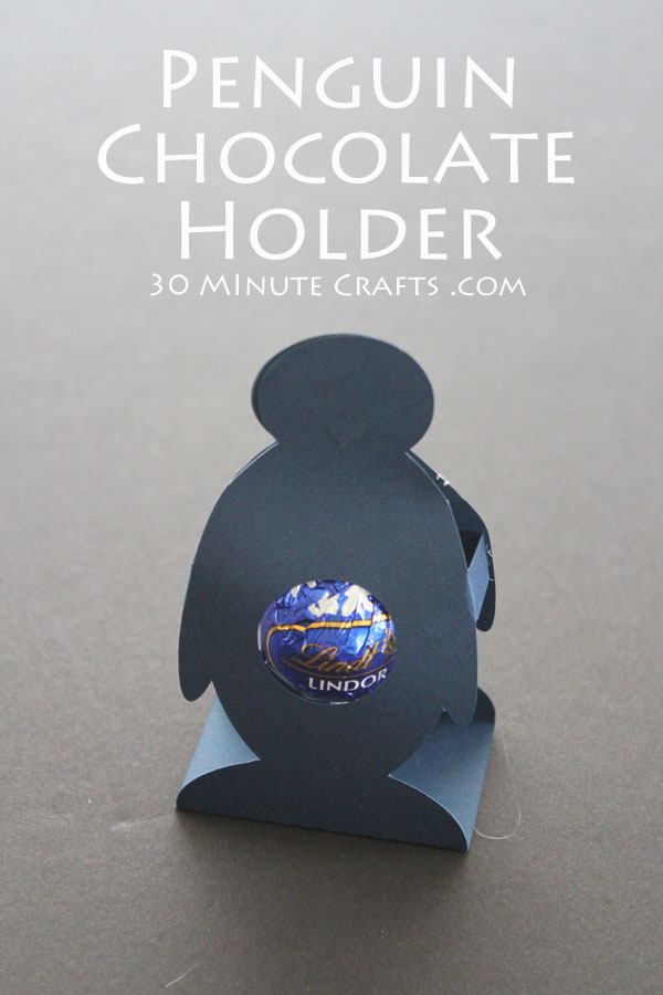 penguin chocolate holder