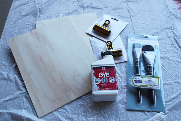 supplies for stained clipboard
