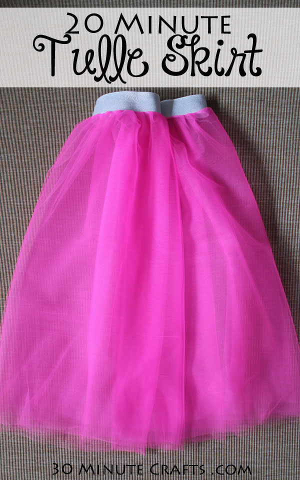 DIY 20-Minute Tulle Skirt - whip up this simple tulle skirt in about 20 minutes! Fun to wear to a race, party, or just around the house!