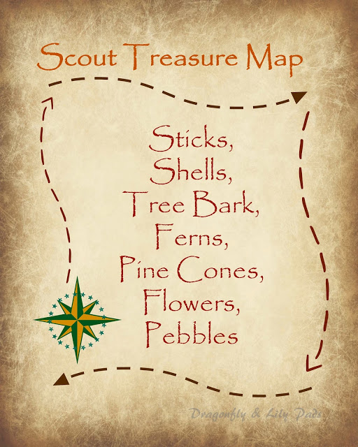 2016 D&LP Scout Post Angie Scout treasure Map