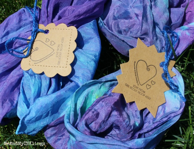 Girl-Scout-Tie-Dye-Scarves-Expressionery-Stamped-Tags