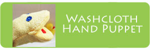 Washcloth Hand Puppet