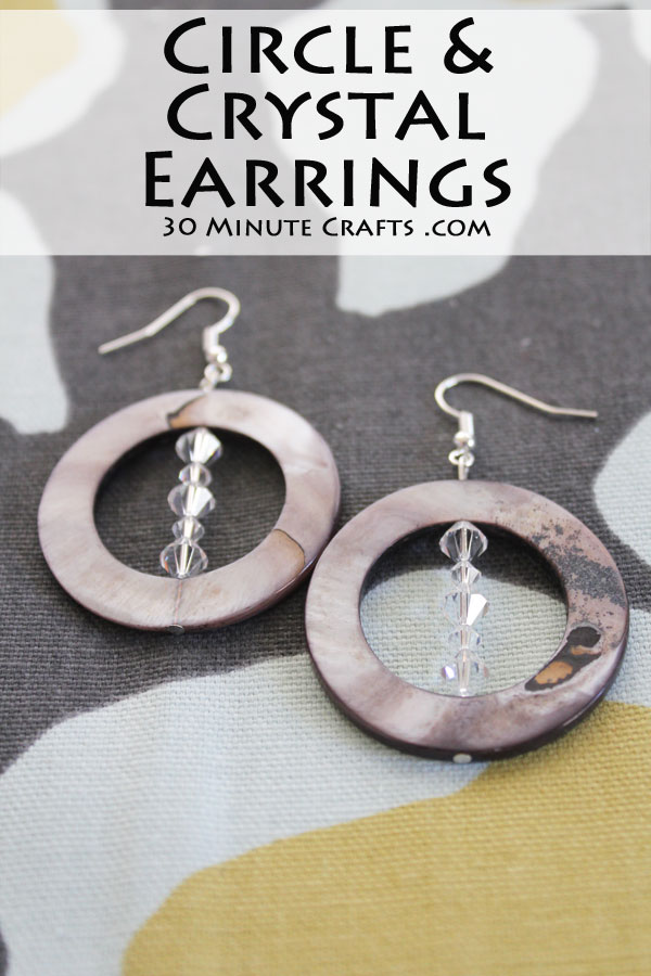 circle and crystal earrings