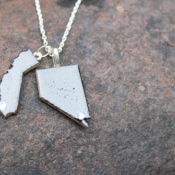 finished home state necklace