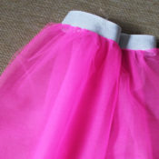 finished tulle skirt