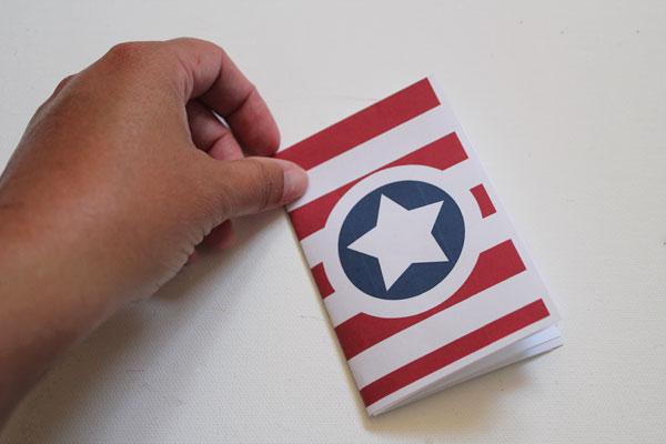 folded mini flag retirement ceremony record book