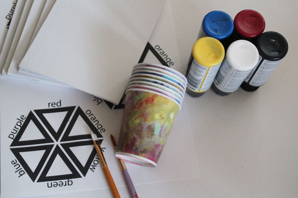supplies for painting with scouts