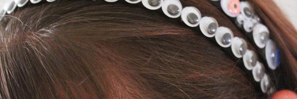 Googly Eye Headband - easy to make Halloween accessory!