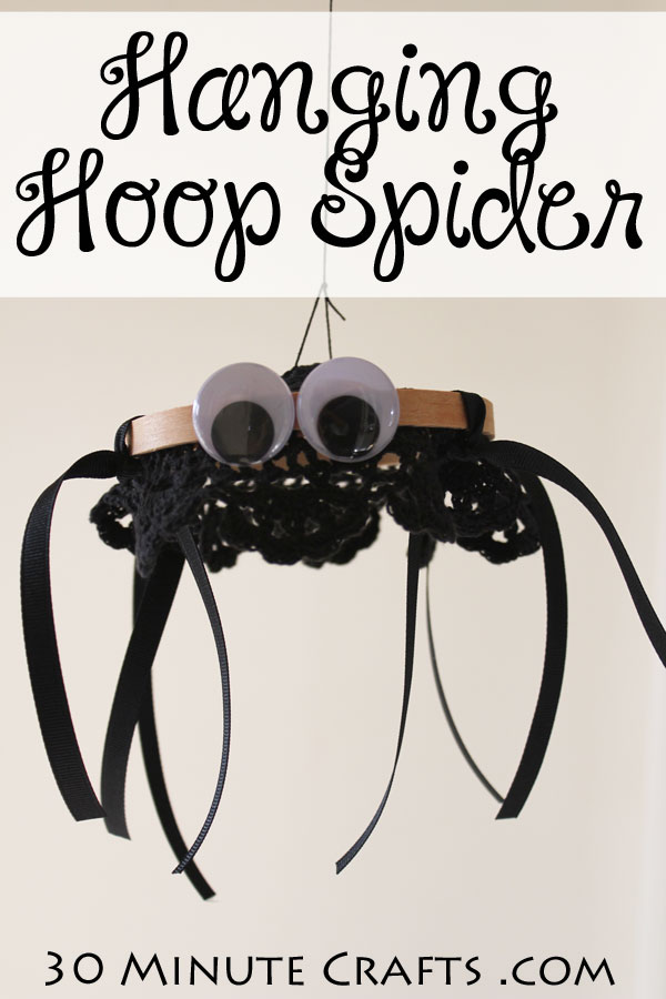 Hanging hoop spider - simple craft