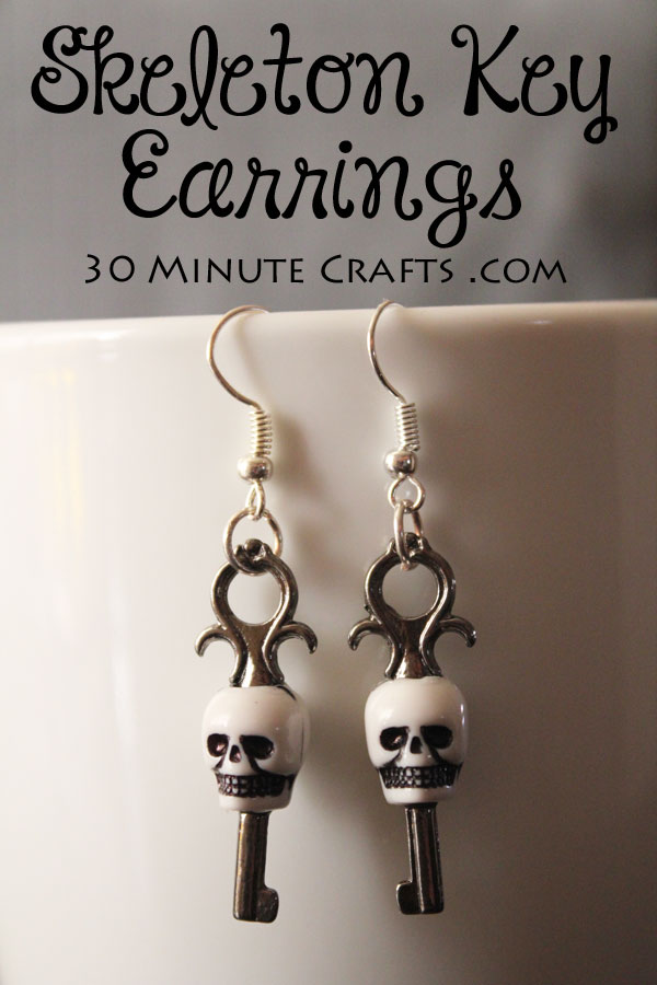 Skeleton Key Earrings - simple to make, and so much fun to wear!