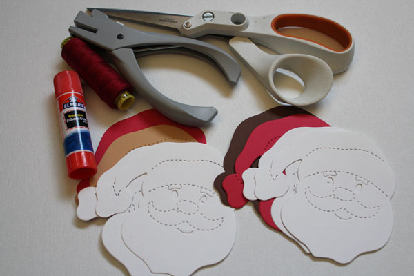 supplies for santa tags