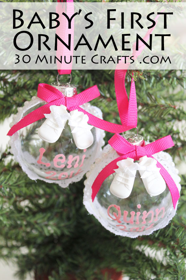 DIY Baby's First Ornament